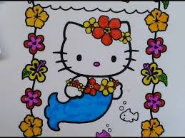 Hello Kitty Mermaid Coloring Book Creative Kids Art Learn Colors Pages