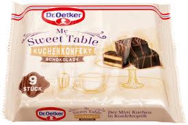 kuchenkonfekt schokolade my sweet table dr oetker