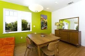 Mid Century Modern Dining Room Hutch Example Of A Medium Tone Wood Floor Design