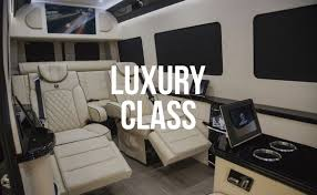 Custom Interior Bespoke Mercedes Benz Luxury Sprinter Van Conversion Mobile Offices