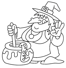 Download Witch And Couldron Halloween Coloring Page 6 Print
