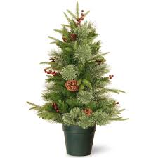 3ft Colonial Fir Potted FeelReal Artificial Christmas Tree