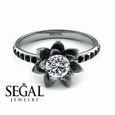 white and black diamond rings black white gold wedding rings