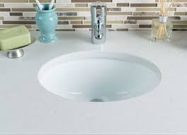 small undermount bathroom sink with oval ceramic shape design