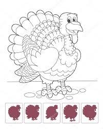 Dessin Animé Turquie Coloriage Assortis Dombre Photographie