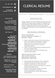 100 Basic Resume Example Clerical Worker Writing Tips Genius