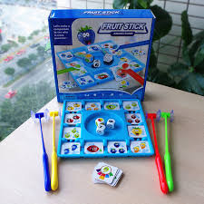 NEW Board Games For Children Fruit Sticks Party Kids Early Learning Educational Toys Portable