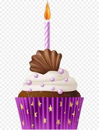 Muffin Cupcake Birthday cake Clip art Birthday Muffin Pink with Candle PNG Clip Art