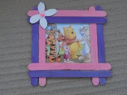 Popsicle Sticks Crafts Picture Frame Diy Home Decoration