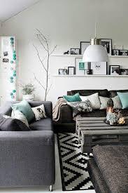 weiß grau türkis wohnzimmer design wohnen