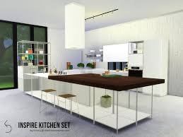 Created By K Omu NSPIRE Kitchen Set For The Sims 4 This Sleek Modern Will Bring Joy To Cooking And Eating Has Cooker Hoods