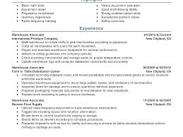 Warehouse Resume Templates Of A Worker Template Free