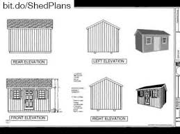 10x14 Garden Shed Plans by Free Playhouse Plans G473 10 X 14 X 8 Garden Shed Plan Or Youtube