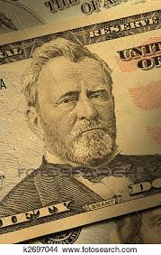 Stock Photo Of Close Up Ulysses S Grant On The 50 Bill K2697044