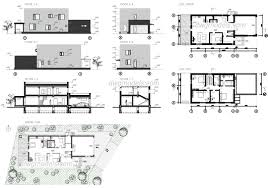 100 Modern Architecture House Floor Plans AutoCAD Plans Drawings Free Download