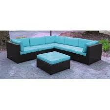 Walmart Sectional Sofa Black by Black Resin Wicker Outdoor Furniture Sectional Sofa Set Blue