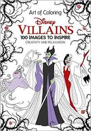The Disney Villains Coloring Book Cover For Adults