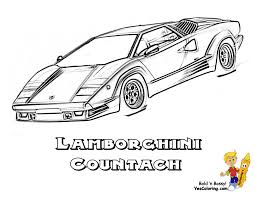 Free Coloring Pictures Lamborghini Countach At YesColoring