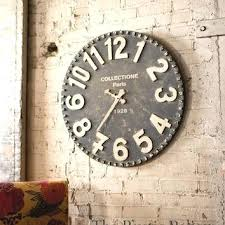 Rustic Wall Clocks Reclaimed Wood Clock Large Farmhouse Decor