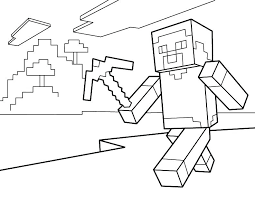 Coloring Pages Of Minecraft Colouring Scene With Sword Mobs Stampylongnose