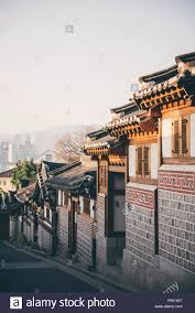 100 Houses In South Korea Bukchon Hanok Village Street With Traditional Houses