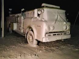 Fire Truck Frozen In Snow. Whoa. : Weather