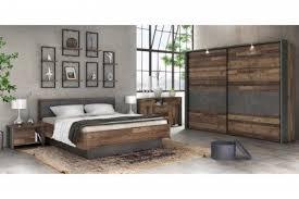 forte schlafzimmer clif wood vintage betongrau möbel