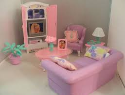 1997 barbie folding pretty house living room set with accessories