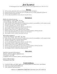 Management Skills Resume Simple Examples