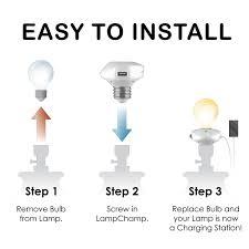 Porcelain Lamp Sockets Replacement by Lampchamp Usb Lamp Socket Charger Dudeiwantthat Com