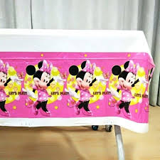 Minnie Mouse Table Cloths Pink Theme Birthday Party Decorations Ideas For Supplies Favors Paper Plastic Tablecloths Red Cloth