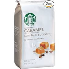 Starbucks Natural Fusions Ground Coffee Caramel Flavored 11 Ounce