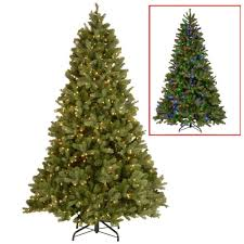 Flocked Christmas Tree 9ft by National Tree Company 9 Ft North Valley Spruce Hinged Artificial