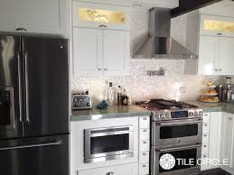 how to install a glass tile backsplash tile circle