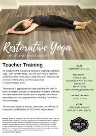 Restorative Yoga With Minimal Props Connect Toronto