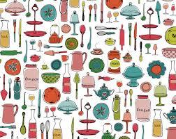 animation cuisine pattern design fauché graphic design illustration
