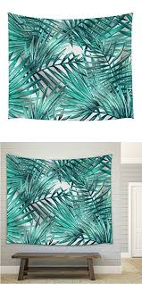 Haobo Tropical Plant Leaf Wall Tapestry Home Decor Bedroom Living Room Dorm 60Wx80L