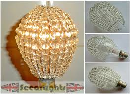 chandelier shades fabric beaded silk bulb covers more intended for