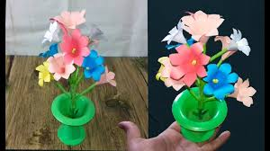 How To Make Flowers Tuberose With Colour Paper Flower Making Craft