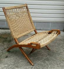 Mid Century Modern Vtg HANS WEGNER? Woven Rope Wood Handles Folding ... Vintage Mid Century Modern Folding Rope Chairs In The Style Of Hans Wegner 1960s Danish Bench Vonvintagenl Catalogus Roped Folding Chairs Yugoslavia Edition Chair Restoration And Wood Delano Natural Teak Outdoor Midcentury Pair Cord And Ebert Wels The Conran Shop