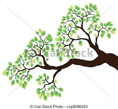 Tree Branch With Green Leaves 1 Vector
