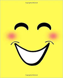 Buy Smiley Face Emoji Black And White Sketchbook Elite Book Online At Low Prices In India