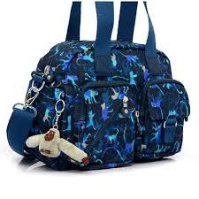 Brand New Authentic Kipling Defea Medium Printed Shoulder Bag Color Black Monkey Mania Print Php