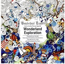 24 Paginas De Secret Garden Fantasia Actualizacion Wonderland Exploracion Libro Para Colorear Los Adultos Aliviar