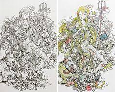 Coloringfabercastell Zifflin Zifflinscoloringbook Doodleinvasion Birthdaypresent