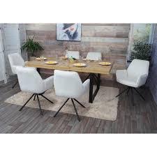 6x esszimmerstuhl hwc g67 küchenstuhl stuhl mit armlehne drehbar auto position samt creme beige