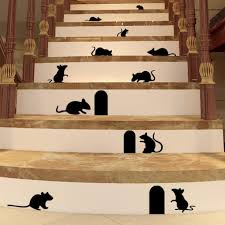 Wall Mural Decals Cheap by Unique Hq Mouse Hole Wall Decal Rat Wall Sticker 3d Wall Mural