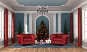 warten auf weihnachten in einem luxuriösen wohnzimmer