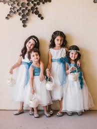 flower girls u0026 ring bearers photos blue flower sashes
