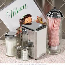 Diner Tabletop 50s Style Accessories Set Close